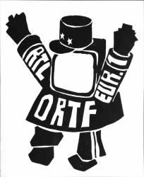 'ORTF, RTL, EUR 1', poster de la révolte étudiante, Mai 1968 (Anonyme) - Muzeo.com