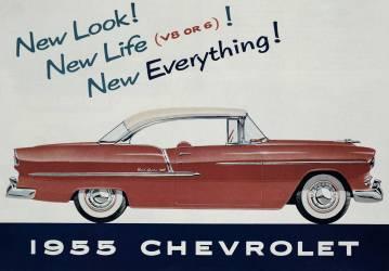 Affiche publicitaire de la voiture Chevrolet de 1955 (anonyme) - Muzeo.com