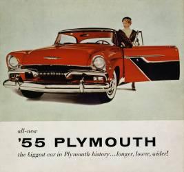 Affiche publicitaire de la voiture '55 Plymouth en 1955 (anonyme) - Muzeo.com