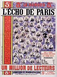 5e le numéro, L'Echo de Paris... un million de lecteurs... (Anonyme) - Muzeo.com