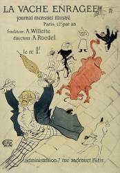 La Vache enragée (Toulouse-Lautrec Henri de) - Muzeo.com