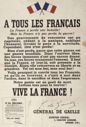 A tous les Français, la France a perdu une bataille ! Mais la France n'a pas perdu la guerre ! (Anonyme) - Muzeo.com