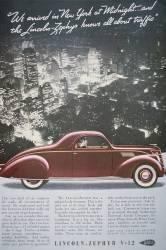 Publicité pour le Lincoln-Zephyr V-12 en 1937 (anonyme) - Muzeo.com