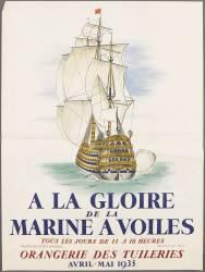Affiche : A la gloire de la marine à voiles (Anonyme) - Muzeo.com