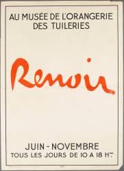 Affiche : Renoir au musée de l'Orangerie de Tuileries (anonyme) - Muzeo.com