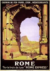 Affiche de voyage pour Rome (Roger Broders) - Muzeo.com