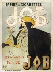 Affiche Job papier à cigarettes (Jane Atché) - Muzeo.com