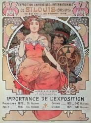 Affiche pour l'Exposition universelle de 1904 (Alfons Mucha) - Muzeo.com