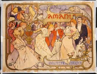 Amants (Alfons Mucha) - Muzeo.com