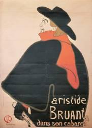 Aristide Bruant dans son cabaret (Henri de Toulouse-Lautrec) - Muzeo.com