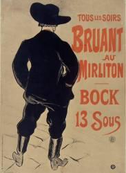 Bruant au Mirliton (Henri de Toulouse-Lautrec) - Muzeo.com