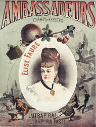 Café-concert les Ambassadeurs des Champs-Elysées et Elise Faure (Anonyme) - Muzeo.com