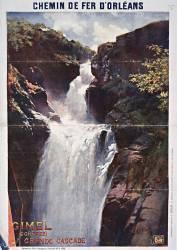 Chemin de Fer d'Orléans. Gimel (Corrèze), grande cascade (Vuillier Gaston) - Muzeo.com