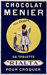 Chocolat Menier pour croquer. Sa tablette