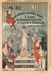 Concert de la Porte Maillot, 78 avenue de la Grande-Armée... Vaudevilles, opérettes, chansonnettes, pantomimes (Anonyme) - Muzeo.com