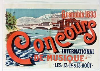 Grenoble 1893, Concours international de musique (Anonyme) - Muzeo.com