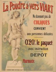 La Poudre à vers Viart ne donnant pas de coliques... dépot pharmacie (Anonyme) - Muzeo.com