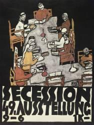 La sécession de vienne, 49éme exposition, Die Freunde, 1918 (Schiele Egon) - Muzeo.com