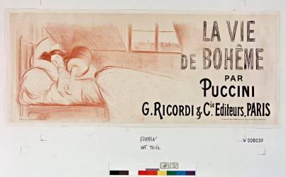 La Vie de Bohème par Puccini, G. Ricordi & Cie éditeurs (Forain Jean-Louis) - Muzeo.com