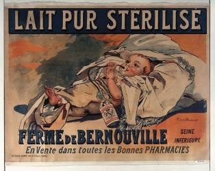 Lait pur stérilisé Ferme de Bernouville. En vente dans toutes les bonnes pharmacies (Bouisset Firmin) - Muzeo.com