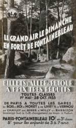 Le Grand air le dimanche en forêt de Fontainebleau PLM (Anonyme) - Muzeo.com