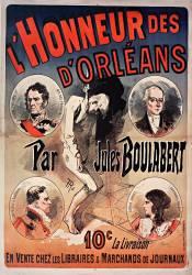 l'Honneur des d'Orléans par Jules Boulabert- 10 c la livraison - En vente chez les libraires et marchands de journeaux. (Anonyme) - Muzeo.com