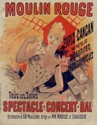 Moulin rouge, Paris-Cancan (Jules Chéret) - Muzeo.com