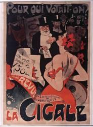 Pour qui votait-on ? On vote pour la 150° de la revue en 2 actes et 6 tableaux de Henri Fursy. La Cigale (Grün Jules) - Muzeo.com