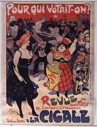 Pour qui votait-on ?... Revue de Henri Fursy en 2 actes et 6 tableaux tous les soirs à la Cigale (Grün Jules) - Muzeo.com