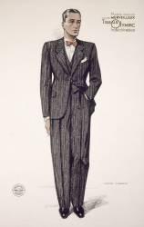 Publicité pour 'Cambridge' costume de Olympique, de 1929 à 1930 (Choiselat Jean) - Muzeo.com