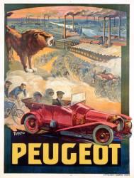 Publicité pour Peugeot (Francisco Tamagno) - Muzeo.com