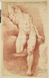 Académie d'homme renversé (Anonyme) - Muzeo.com