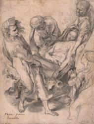 Album d'Italie : Urbino, palais ducal, esquisse de la Mise au Tombeau de F. Barocci (Boitte...) - Muzeo.com