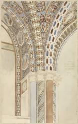 Assise - Eglise supérieure de Saint-François. Relevé de la décoration d'une partie de la voûte (Eugène Viollet-Le-Duc) - Muzeo.com
