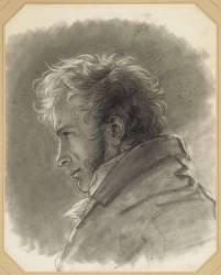 Autoportrait, en buste, de profil à gauche (Girodet Anne-Louis) - Muzeo.com