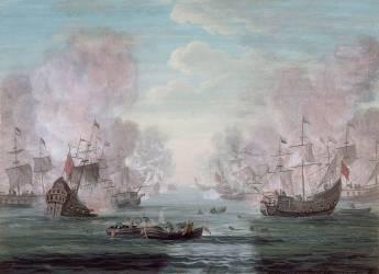 Combat sur mer (Louis Nicolas van Blarenberghe) - Muzeo.com