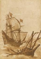Deux bateaux dans la tempête (Le Lorrain Claude (dit)...) - Muzeo.com