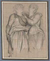 Deux cariatides (Antoine Coypel) - Muzeo.com