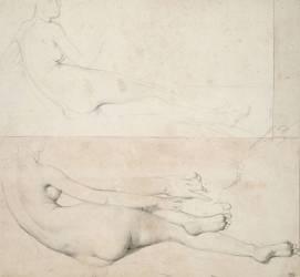 Deux Dessin pour L'Odalisque de la Galerie Pourtalés (Ingres Jean-Auguste-Dominique) - Muzeo.com