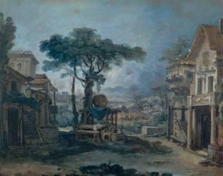 Esquisse d'un décor de scène (Boucher François) - Muzeo.com