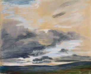 Etude de ciel au crépuscule (Delacroix Eugène) - Muzeo.com