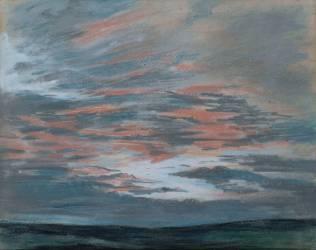 Etude de ciel au soleil couchant (Eugène Delacroix) - Muzeo.com