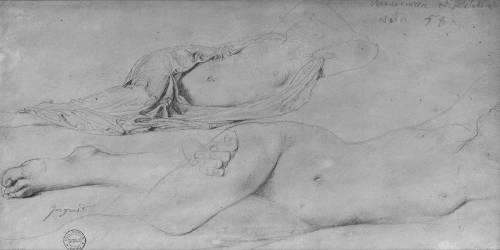 Etude pour l'Odalisque à l'esclave (Jean-Auguste-Dominique Ingres) - Muzeo.com