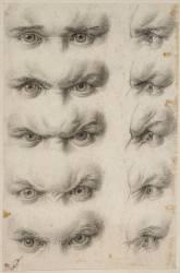 Etudes d'yeux humains (Charles Le Brun) - Muzeo.com
