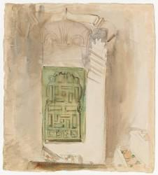 Intérieur au Maroc : la porte verte (Eugène Delacroix) - Muzeo.com