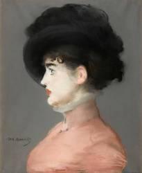 La femme au chapeau noir : portrait d'Irma Brunner la Viennoise (Edouard Manet) - Muzeo.com