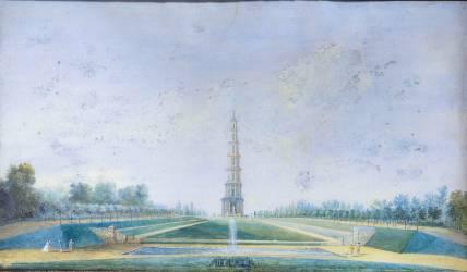 La Pagode de Chanteloup (Louis Nicolas van Blarenberghe) - Muzeo.com