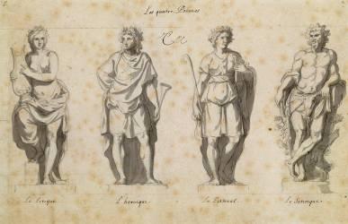 Les Quatre poèmes (Le Brun Charles) - Muzeo.com