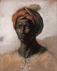 Nègre au turban (Eugène Delacroix) - Muzeo.com