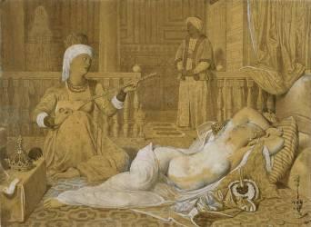 Odalisque à l'esclave (Jean-Auguste-Dominique Ingres) - Muzeo.com